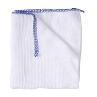 Bleached Dish Cloths Blue Edge (Size 14 Pack x10)