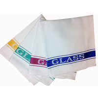 Linen Union Glass Cloth - Red (Individual)