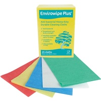 Envirowipe Plus Anti Bacterial Heavy Duty Cloths Large (Pack x25) YELLOW