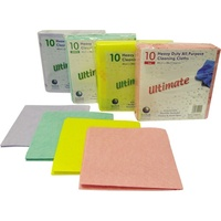Ultimate Super Absorbent Cloths (Pack x10) GREEN