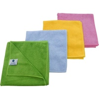 Microfibre Cloths High Quality Split-Fibre Technology (Pack x10) GREEN
