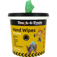 Industrial Hand Wipes (Abrasive Texture) Anti-Bac Removes Paint, Grease, Tar etc. (Bucket x150 Wipes)