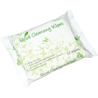 Facial Cleansing Wipes Fragrance Free - Gentle, Rehydrates Skin, Removes Makeup & Water Proof Mascara (Case 8 x 32 Wipes)