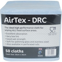 AirTex Folded Blue - High Perormance Pulp/Latex Disposable Cleaning Cloths 8 x 50 (400)