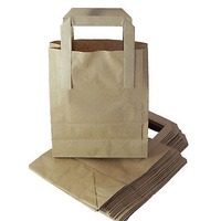 "8"" Brown Medium Carrier Bags with Handles (x250)"