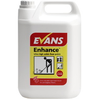EVANS - ENHANCE - Metalised Floor Polish Ultra High Solid Wet Look Finish (5L)