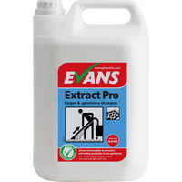 EVANS - EXTRACT PRO - Anti-Soiling Carpet & Upholstery Shampoo/Cleaner for Extraction Machines (Low Foam) (5L)