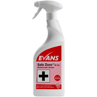 EVANS - SAFE ZONE RTU -Bactericidal Disinfectant Cleaner (750ml)