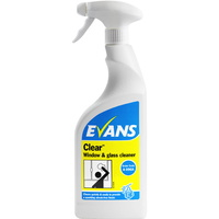 EVANS - CLEAR - Window, Glass & Stainless Steel Cleaner (750ml)