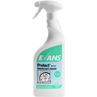 EVANS - PROTECT RTU - Anti Bacterial Perfumed Disinfectant Cleaner (EN1276) (750ml)