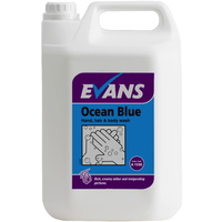 EVANS - OCEAN BLUE - Invigorating Hand, Hair & Body Wash/Soap (5L)