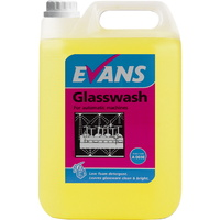 EVANS - GLASSWASH - Low Foam Leaves Crockery & Glassware Clean & Bright (5L)