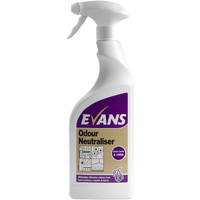 EVANS - ODOUR NEUTRALISER - Eliminates Odours From Carpets, Fabrics & Hard Surfaces (750ml)