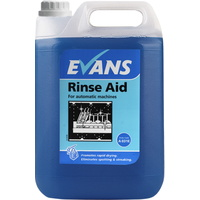 EVANS - RINSE AID 5L - Promotes Drying & Eliminates Spotting on Crockery & Glassware (5L)