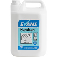 EVANS - HANDSAN - 70% Alcohol Hand Rub Sanitiser Gel with Moisturiser (5L)