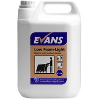 EVANS - LOW FOAM LIGHT - Neutral Multi Surface Scrubber Dryer Detergent / Catering Grade (5L)