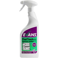 EVANS - FINAL TOUCH RTU - Highly Perfumed Bacterial Washroom Cleaner/Sanitiser (750ml)