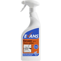 EVANS - EST-EEM RTU - Catering Grade Cleaner & Sanitiser EN1276 (750ml)