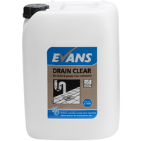 EVANS - DRAIN CLEAR - Enzyme Drain & Grease Trap Maintainer (10L)