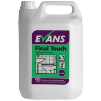 EVANS - FINAL TOUCH - Highly Perfumed Bacterial Washroom Cleaner/Sanitiser (5L)
