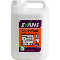 EVANS - CLEAN FAST - Heavy Duty Acidic Bactericidal Cleaner (EN1276) (5L)