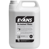EVANS - DE-IONISED WATER - Ideal For Topping Up Batteries in Fork Trucks, Cars and Floor Machines (5L)