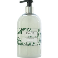 EVANS - LUXURY SILK BASIN- Enriched, Hand, Hair and Body Wash Basin Pump Bottle (500ml)