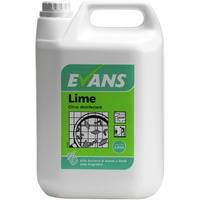 EVANS - LIME DISINFECTANT - Long Lasting Citrus Fragranced  Disinfectant (5L)