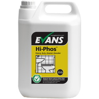 EVANS - HI-PHOS - High Active Phosphoric Acid Cleaner & Descaler Safe on Stainless Steel & Porcelain (5L)