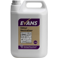 EVANS - ODOUR NEUTRALISER - Eliminates Odours From Carpets, Fabrics & Hard Surfaces (5L)