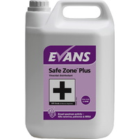 EVANS - SAFE ZONE PLUS - Disinfectant eliminates Norovirus, Influenza, MRSA & C. diff (EN14476 & EN1276) (5L)