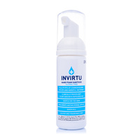 INVIRTU - Alcohol-Free Foam Hand Sanitiser - 50ml Personal Pump Bottle