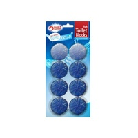 Toilet Cistern Blocks - Ocean Fresh Fragrance Prevent Limescale - 8 x 50g