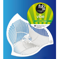 FAB30 VIBE - Premium Urinal Screen/Mat with Anti Splash-Back & Neutra-Lox (x1)