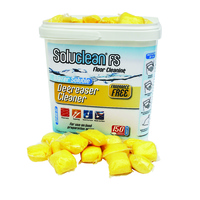 Soluclean Degreaser Cleaner (Catering Grade/Fragrance Free) Tub x150 Sachets/Mop Buckets