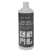 Soluclean (TCP) Heavy Duty Reusable Bottle - GREY Daily Toilet Cleaner Descaler Flip Top with Nozzle 1L