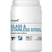 PVA B5:10 Glass & Stainless Steel Cleaner (x10 Sachets)