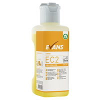 EVANS - EC2 DEGREASER (1L) - Unperfumed, Heavy Duty Cleaner & Degreaser (Inc Dosing Cap) (YELLOW)