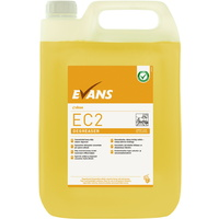EVANS - EC2 DEGREASER (5L) - Unperfumed, Heavy Duty Cleaner & Degreaser (YELLOW)