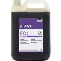 EVANS - EC4 SANITISER (5L) - Unperfumed Cleaner Sanitiser (PURPLE)