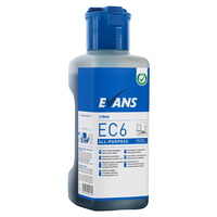 EVANS - EC6 ALL PURPOSE (1L) - All Purpose Hard Surface Cleaner (Inc Dosing Cap) (BLUE)