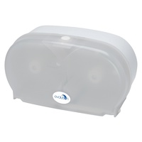 Evolution Twin Coreless Toilet Roll Dispenser White