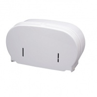 Plain White Coreless Toilet Roll Dispenser White