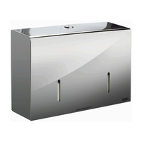 Twin Micro Jumbo Toilet Roll Dispenser (Polished Stainless Steel)