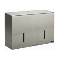 Twin Micro Jumbo Toilet Roll Dispenser (Brushed Stainless Steel)
