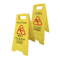 A-Frame Wet Floor Sign Yellow