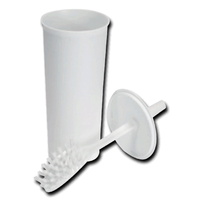 Premium Fully Enclosed Toilet Brush Set White