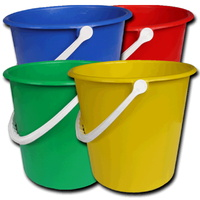 Standard 9 Litre Round Bucket YELLOW