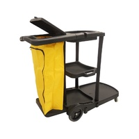 Swift Janitorial Trolley Black Inc Yellow PVC Bag & Lid (AF08180)