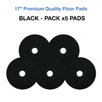 17 Inch Floor Pads - Black Case x5 Stripping Pads